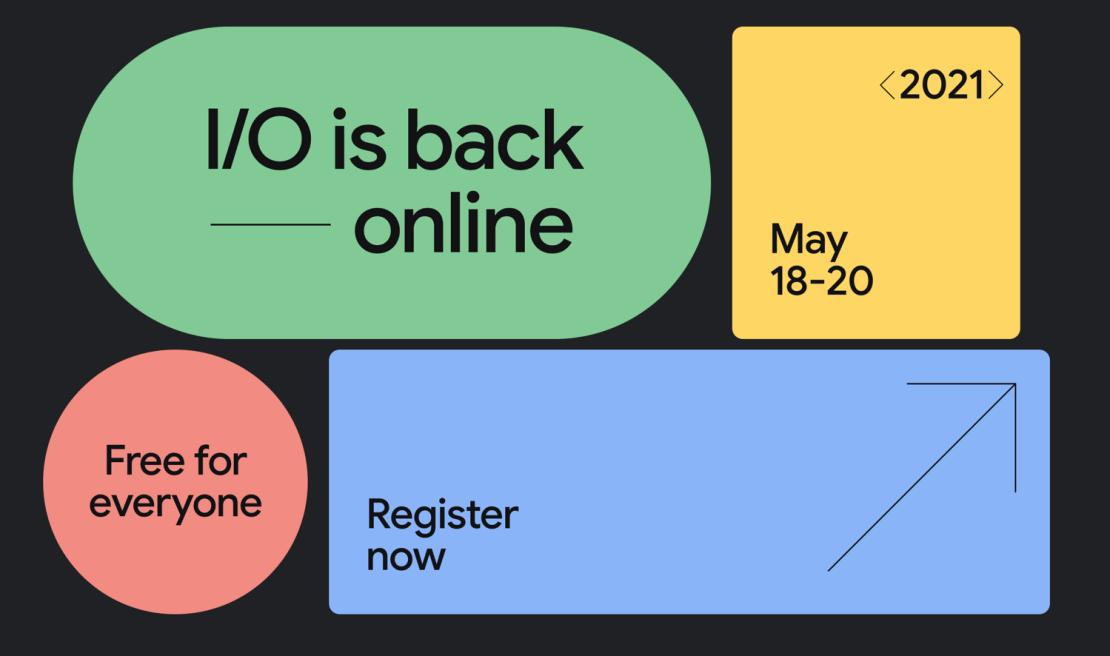 Google I/O 2021 online