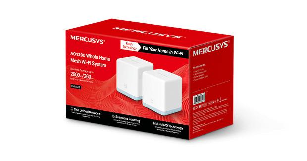 Halo S12 (2-pack) Mercusys Mesh - w opakowaniu