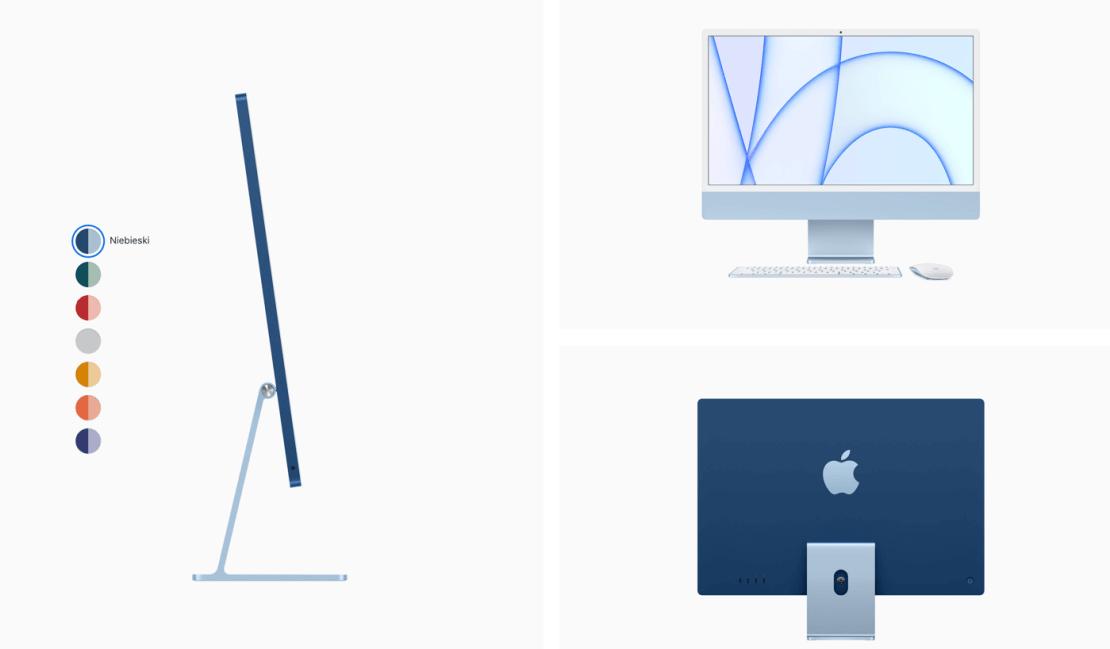 iMac z 2021 roku (niebieski)