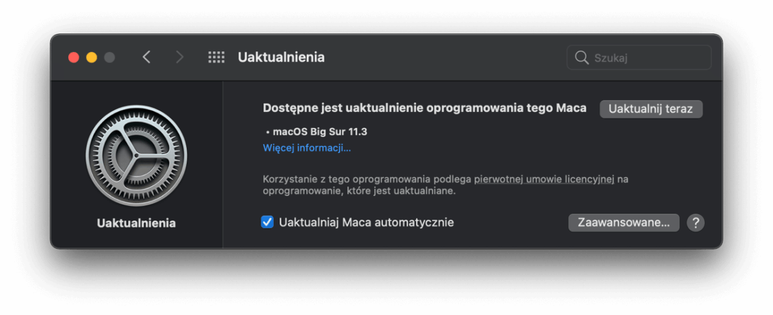 macOS 11.3 Big Sur update