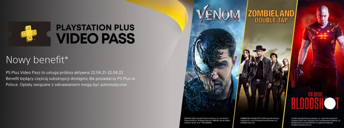 PS Plus Video Pass - nowy benefit w PS Plus w Polsce