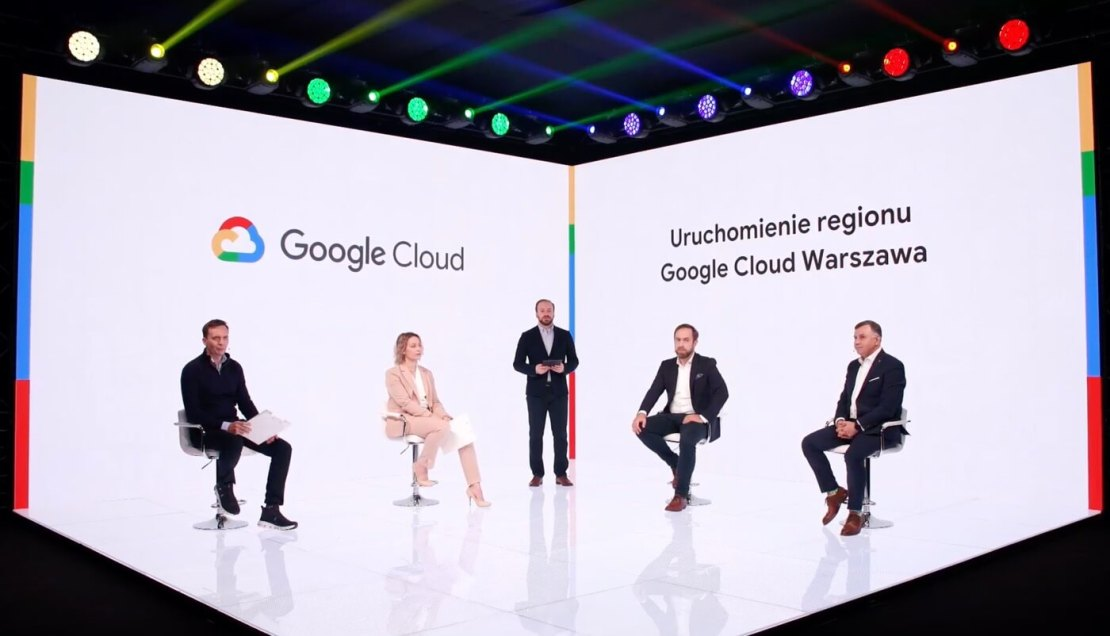 Kadr z konferencji inaugurującej uruchomienie Regionu Google Cloud w Warszawie