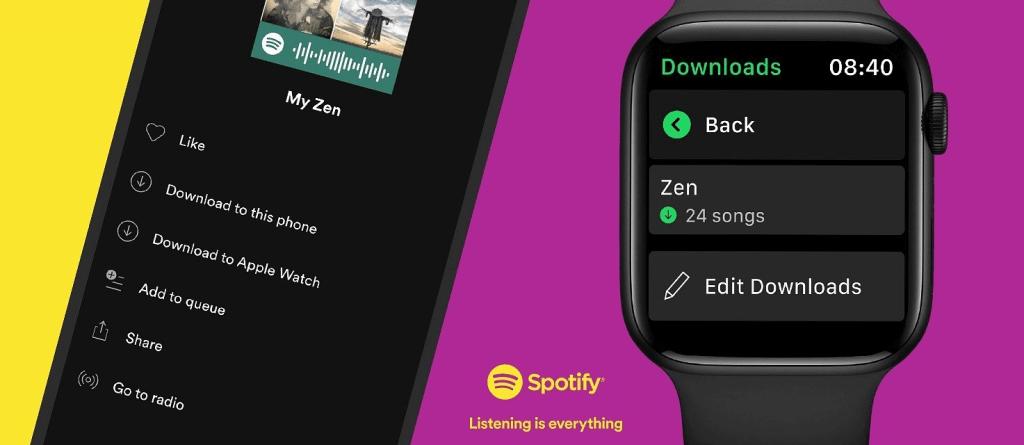 Spotify Premium w trybie offline (Premium) na zegarku Apple Watch