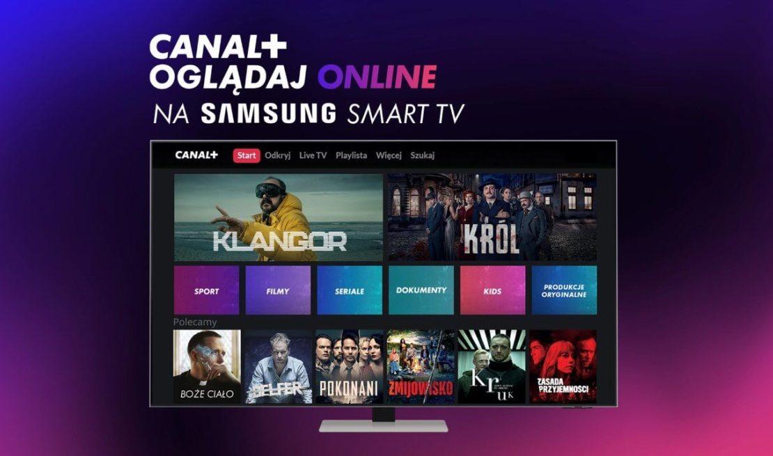 Canal+ online na telewizorach Samsung Smart TV