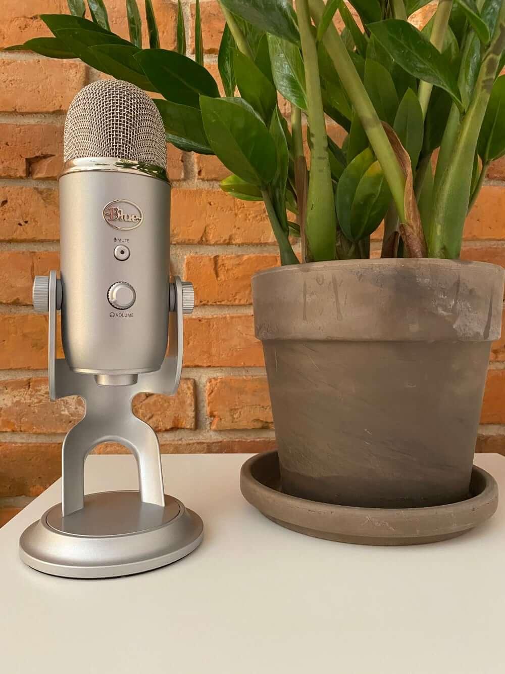 Mikrofon Blue Yeti (srebrny, przód)