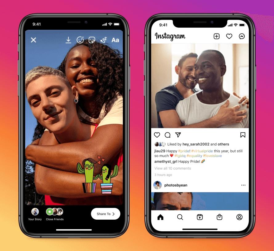 Miesiąc Dumy 2021 w aplikacji Instagram