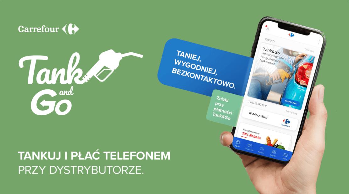 Tank& Go - płatność smartfonem przy dystrybutorze (Carrefour Polska)