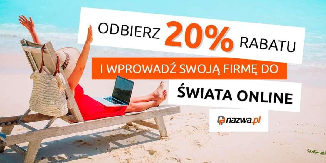 Odbierz 20% rabatu w nazwa.pl 9banner)