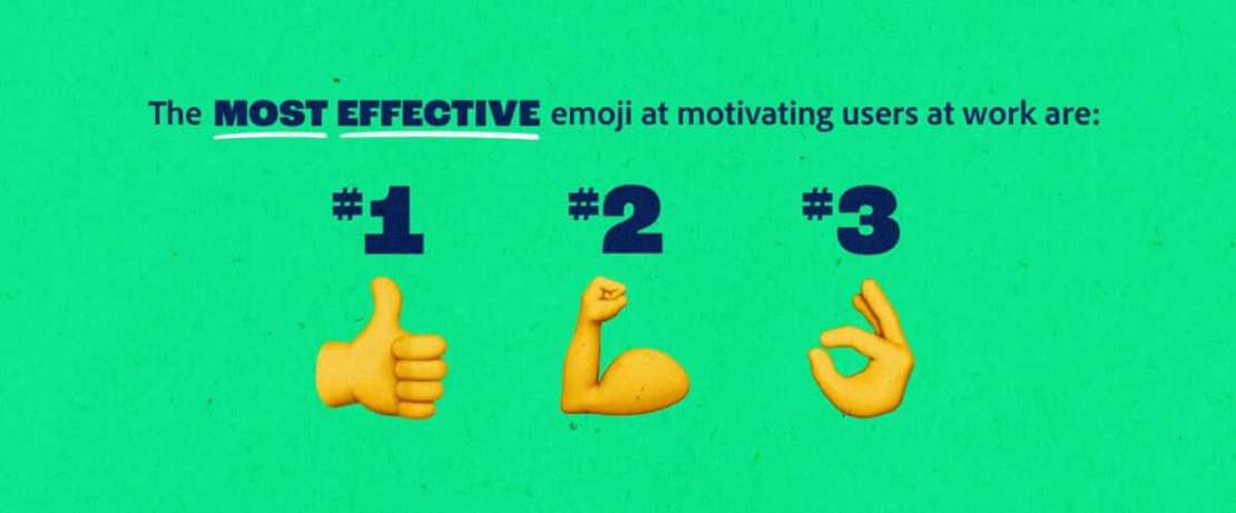 3 najbardziej motywujące Emoji w pracy w 2021 roku