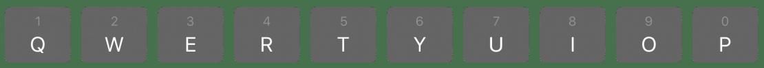 QWERTYUIOP - klawiatura