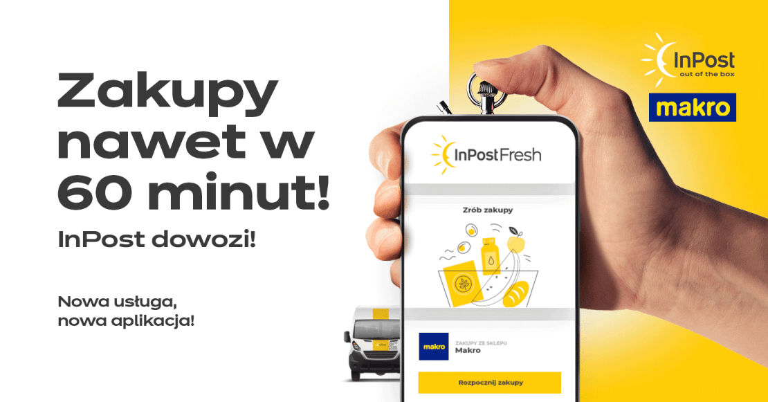 InPost Fresh - zakupy z Makro przez komórkę z dowozem nawet w 60 minut