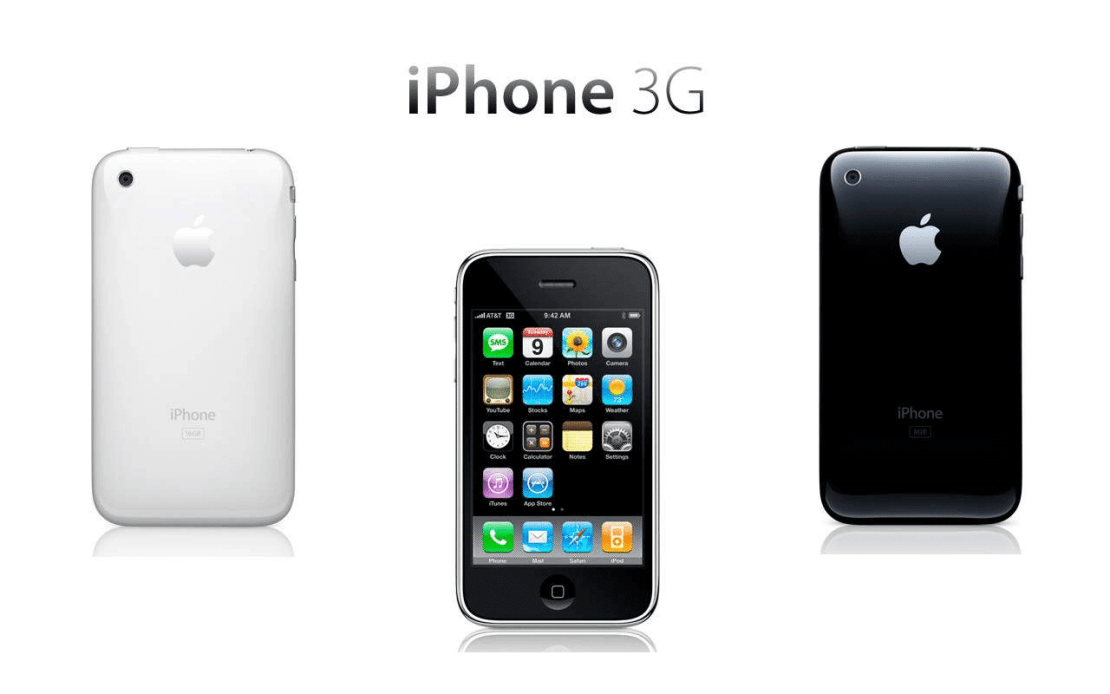 iPhone 3G (Apple, premiera 11 lipca 2008 roku)