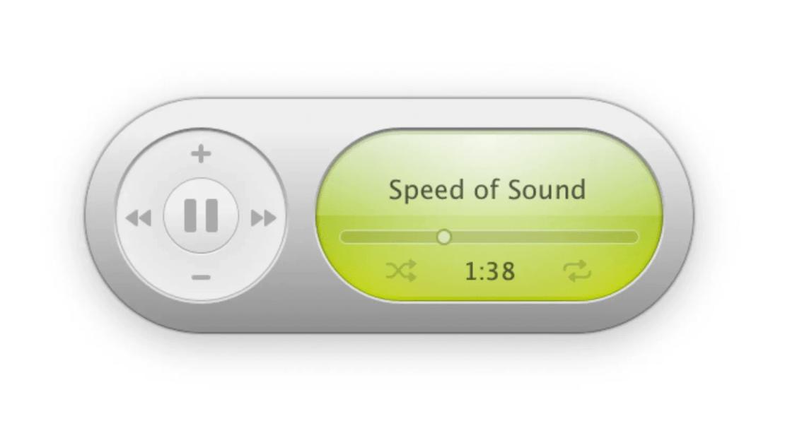 Music Widget (aplikacja przypominająca widżet iTunesa z systemu Mac OS X Tiger)