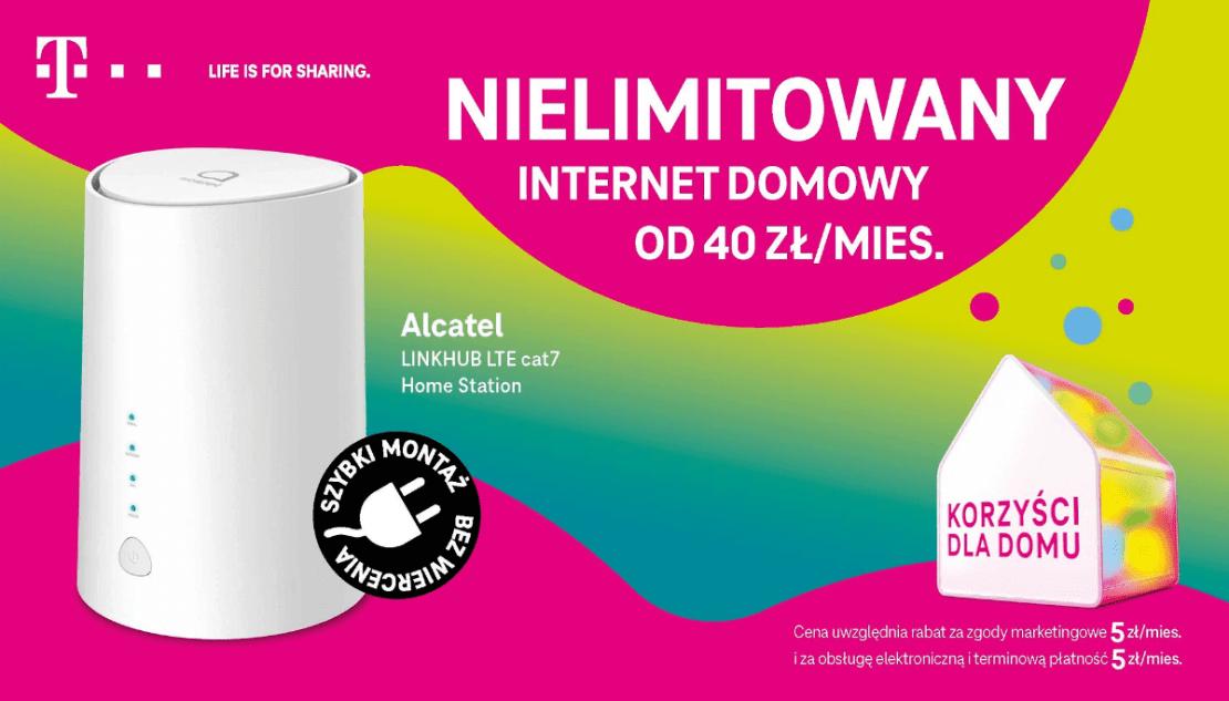 Nielimitowany internet domowy w T-Mobile od 40 zł/mies. (lipiec 2021)