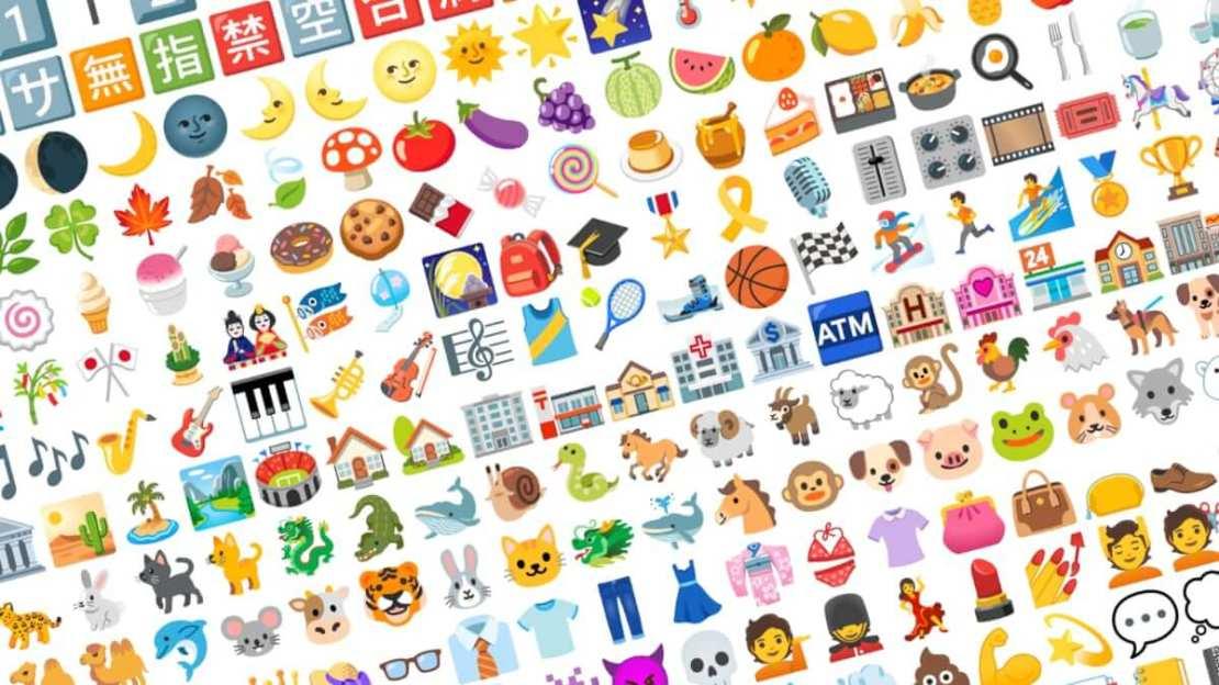 Przeprojektowane Emoji firmy Google (Android 12, 2021)
