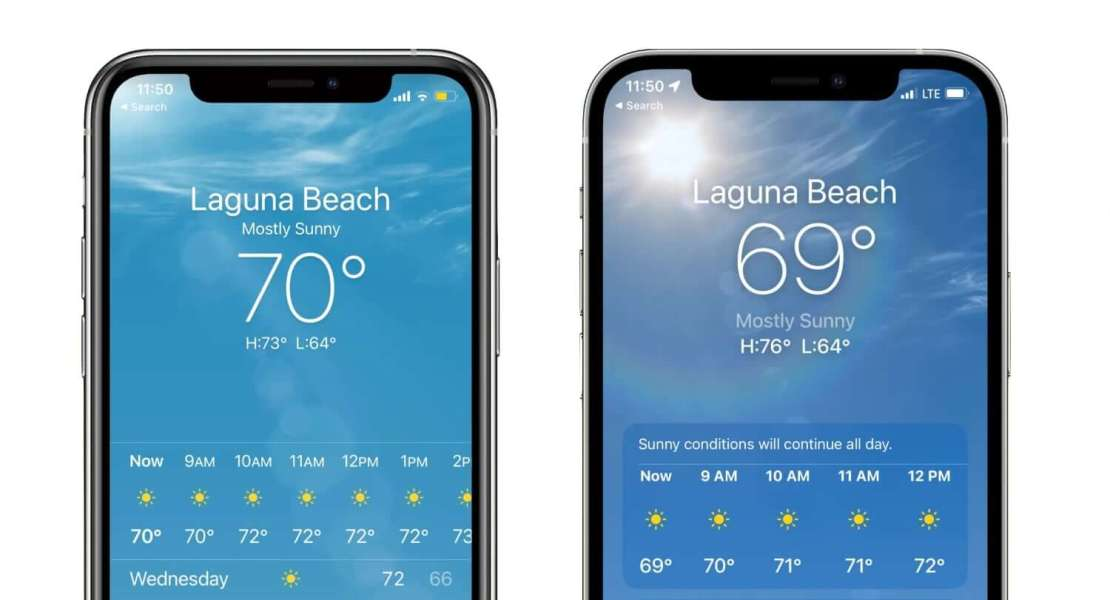 Aplikacja Pogoda firmy Apple nie pokaże 69 stopni Fahrenheita