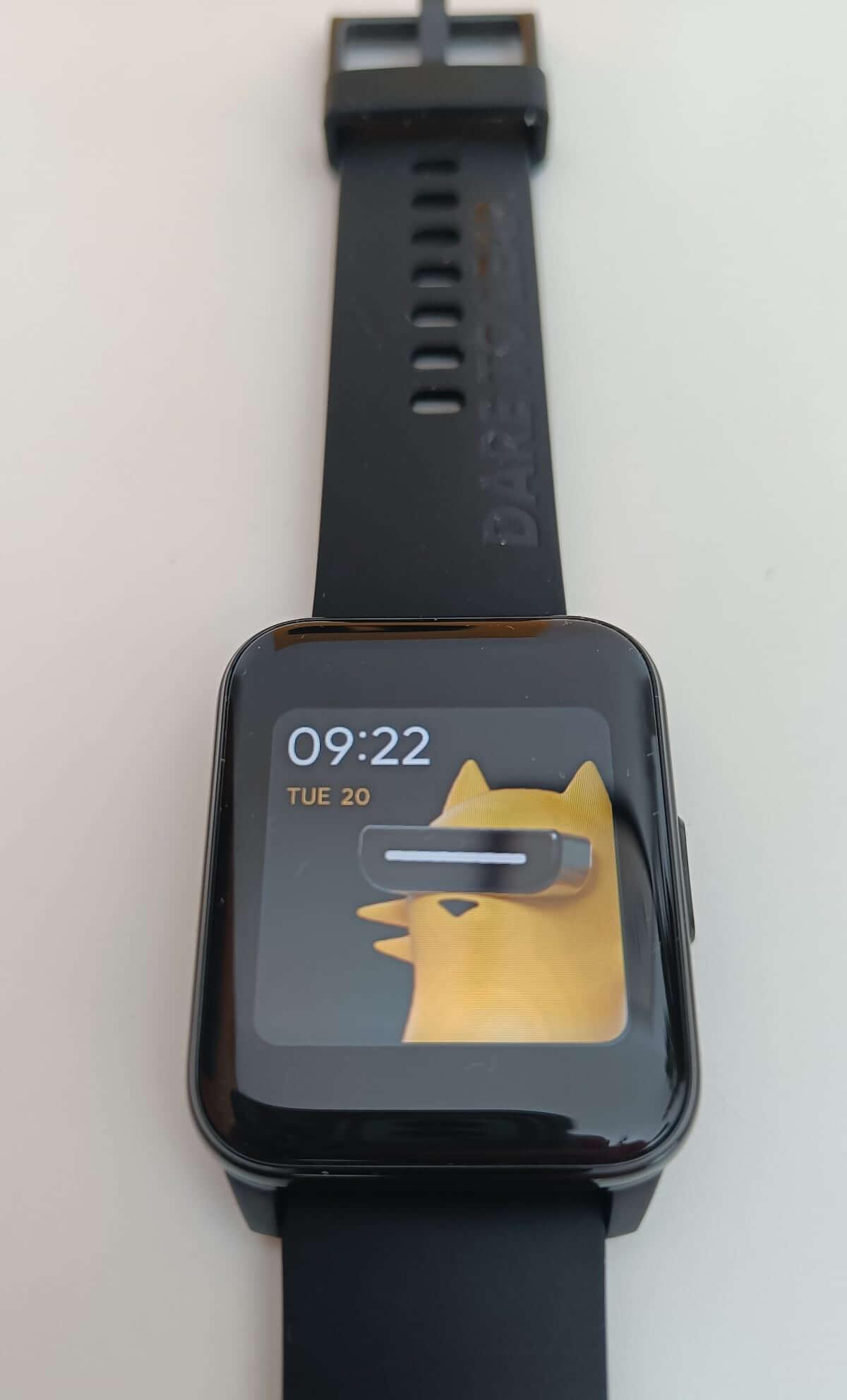 Włączony ekran w realme Watch 2