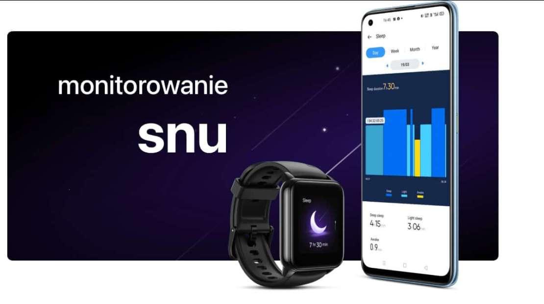monitorowanie snu w realme watch 2