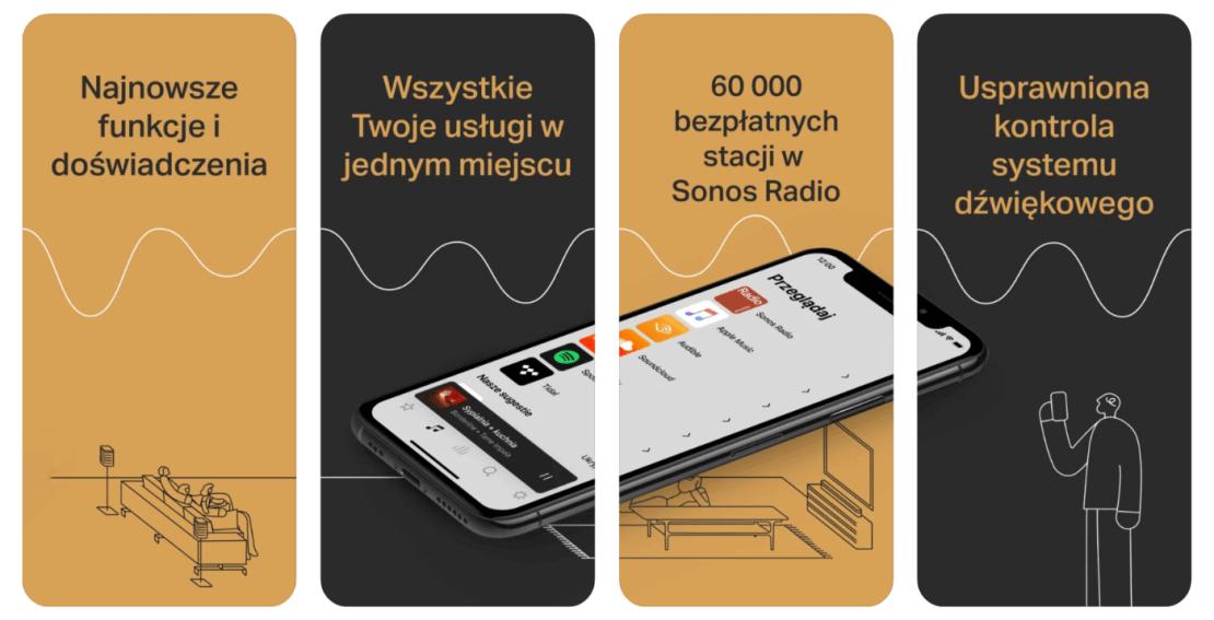 Aplikacja mobilna Sonos S2