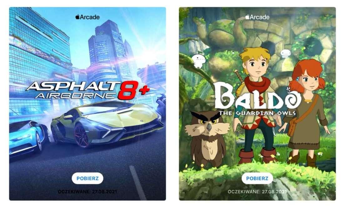 "Gry ""Asphalt 8: Airborne+"" oraz ""Baldo"" w Apple Arcade"