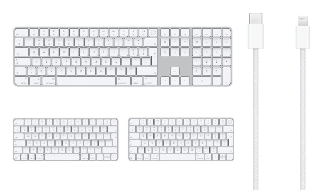 Apple Magic Keyboard z Touch ID i polem numerycznym (sierpień 2021)