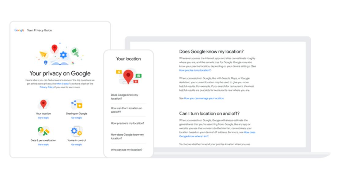 Prywatność nieletnich w usługach Google