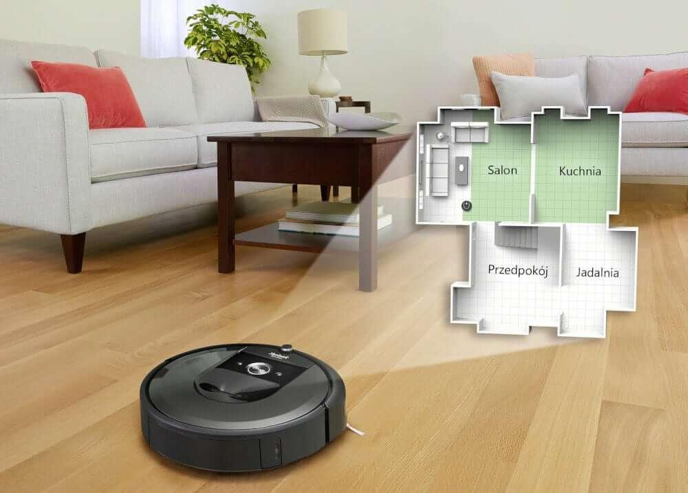 iRobot Roomba i7+ (tworzenie dokładnej mapy/rozkładu mieszkania)