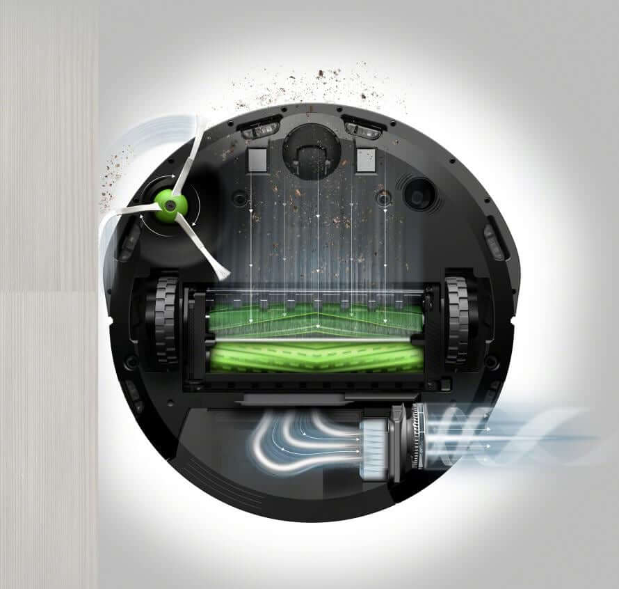 Roomba i7+ (widok pod spodem)