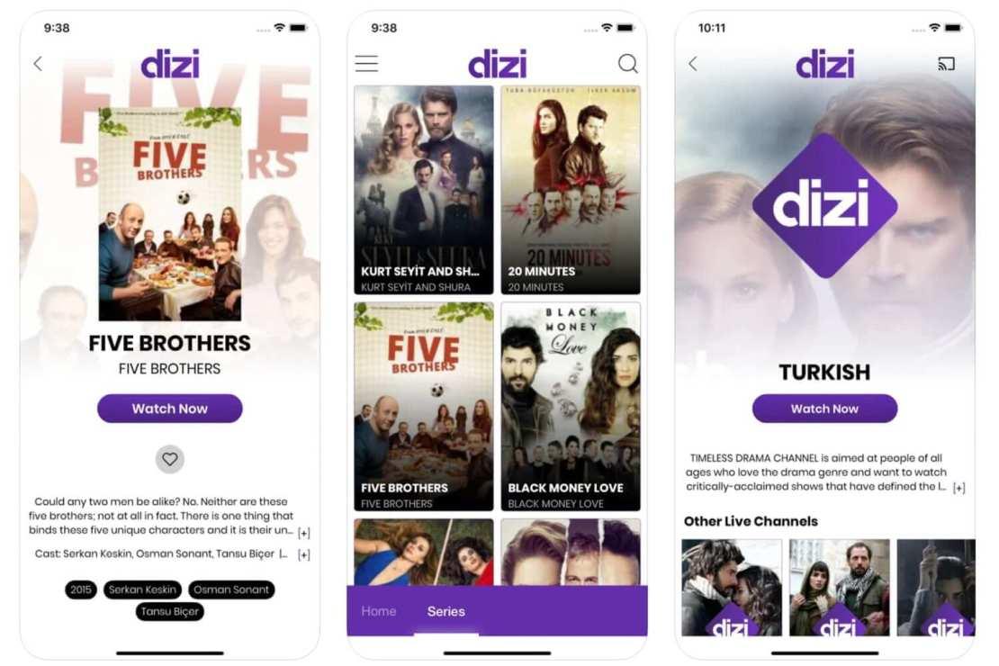 Aplikacja mobilna serwisu streamingowego Dizi