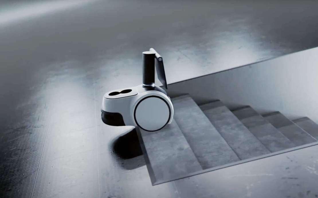 Robot Astro firmy Amazon przy schodach