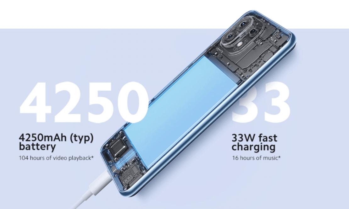 Bateria i ładowanie w Xiaomi 11 Lite 5G NE