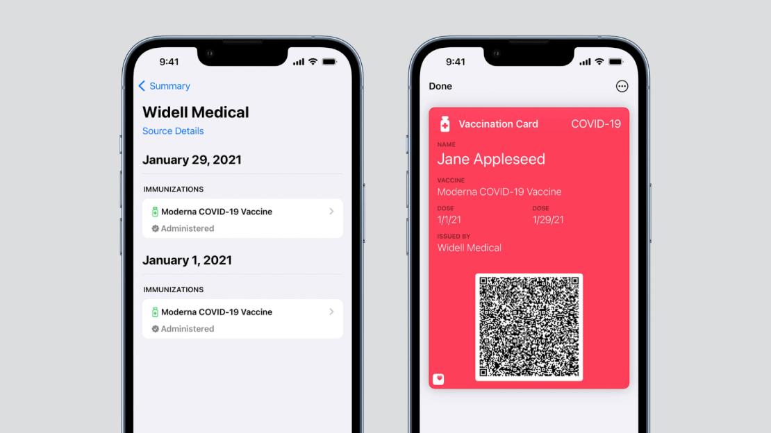 Certyfikaty szczepień w aplikacji Apple Wallet pod systemem iOS 15.1
