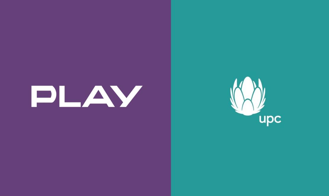 PLAY i UPC - logotypy