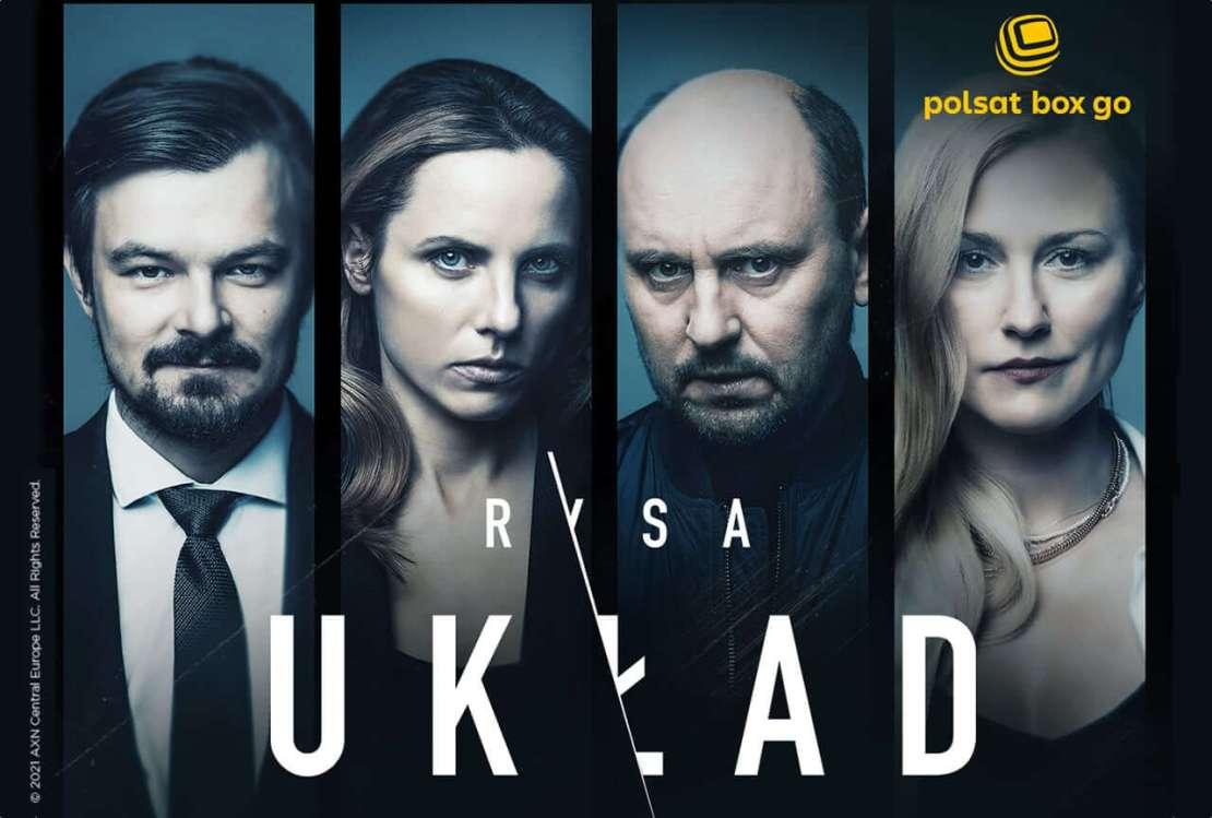 """Plakat serialu """"Układ"""" (kontynuacji serialu """"Rysa"""") - poziom"""