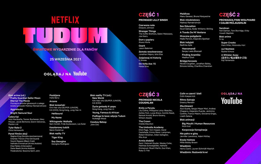Pełny plan wydarzenia TUDUM 2021 firmy Netflix