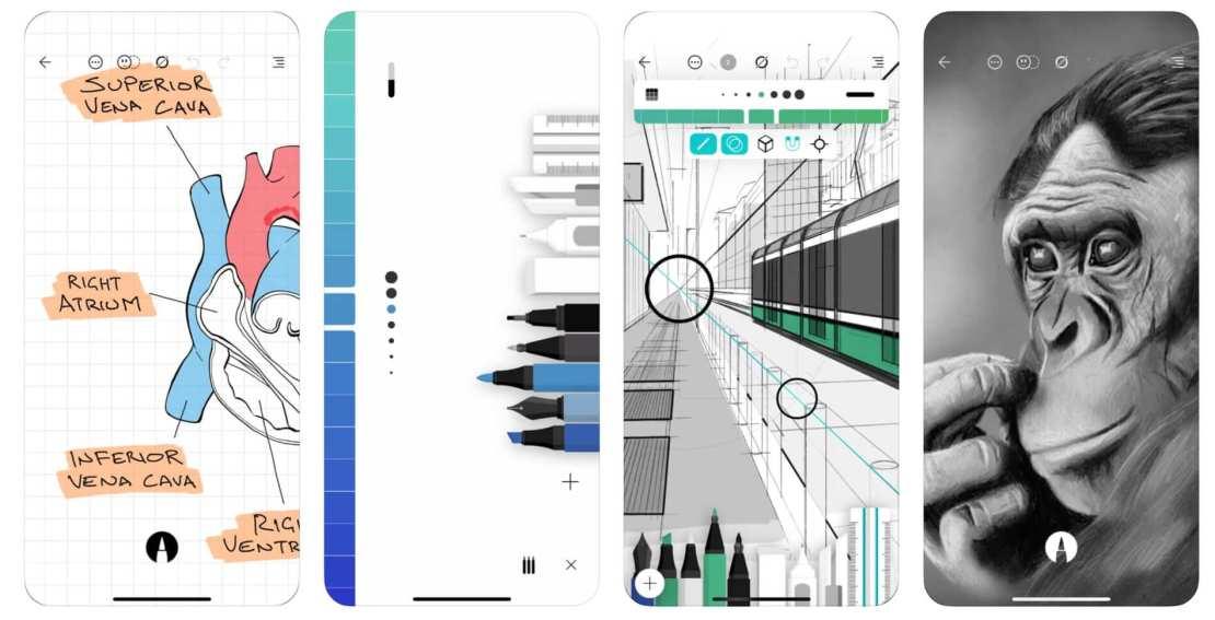 Zrzuty ekranów z aplikacji Flow by Moleskine Studio