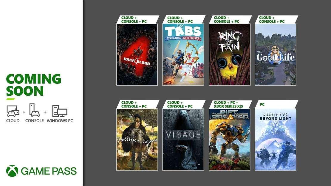 Xbox Game Pass w październiku 2021 roku
