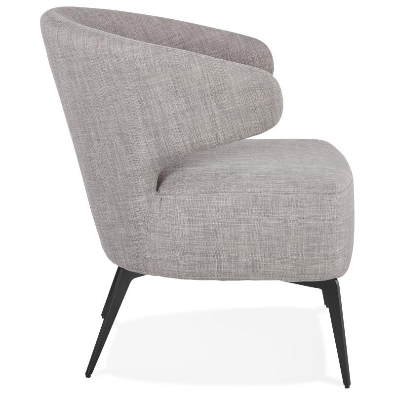 fauteuil design orelo gris pas cher meuble a petit prix