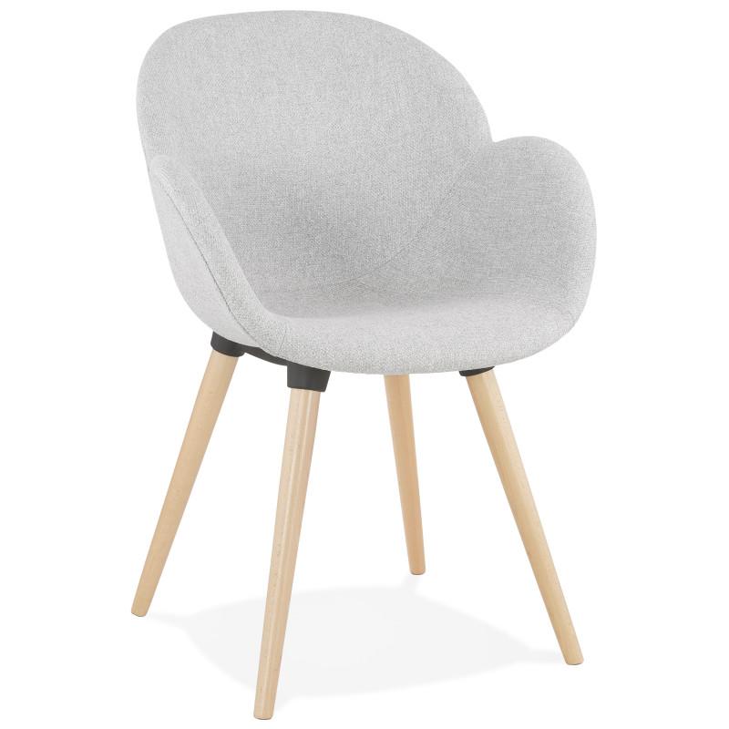 fauteuil design sagu gris clair pas cher meuble a petit prix