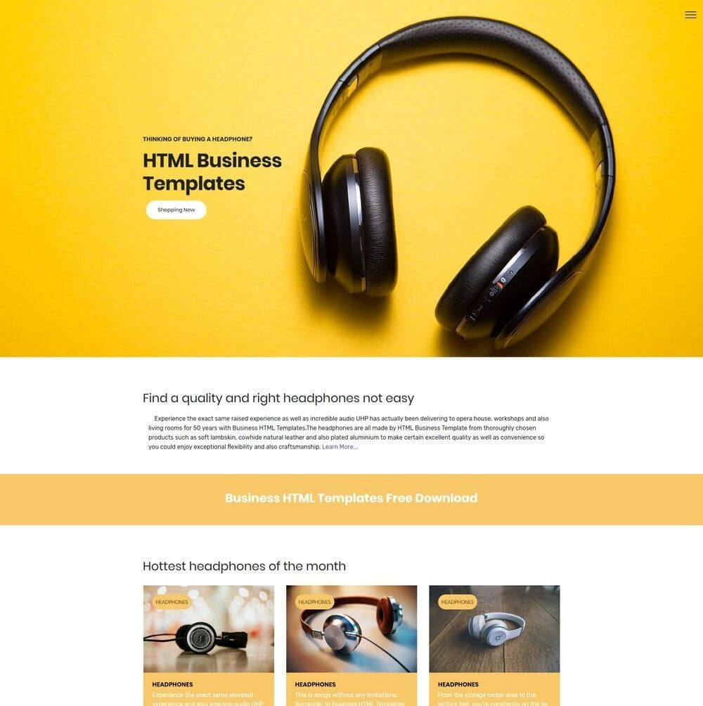 one page bootstrap template resume