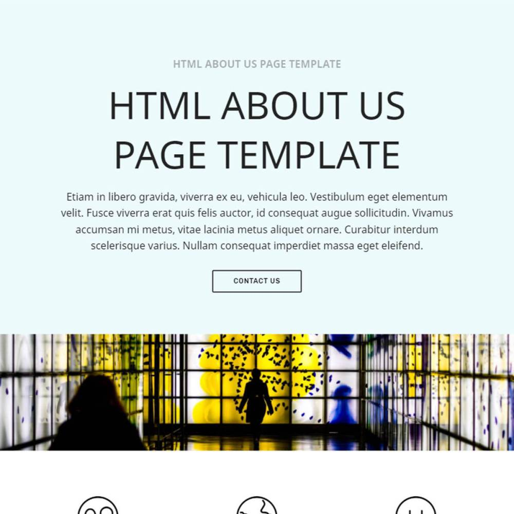 medium resolution of bootstrap about us page template