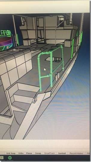 Aft Stbd Handrail Perspective View