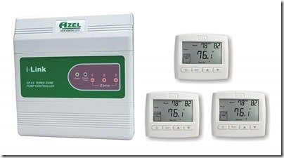 Azel iLink 3 zone in floor heating controller