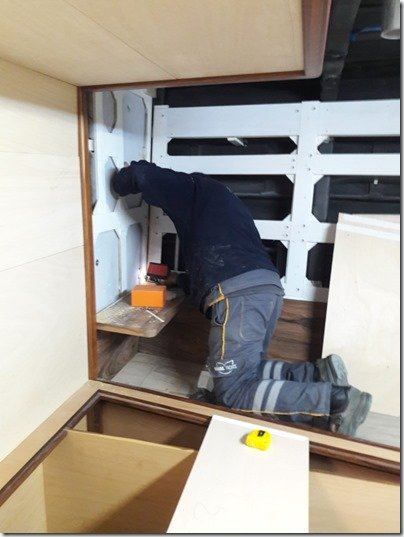 Sevki installing CK bed shelf 2