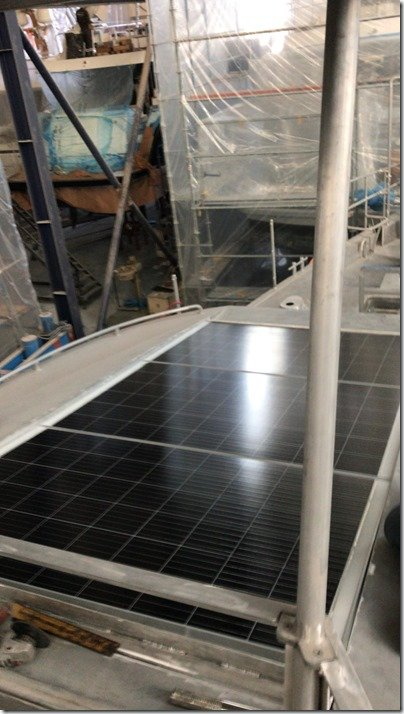 Front solar panels install 8