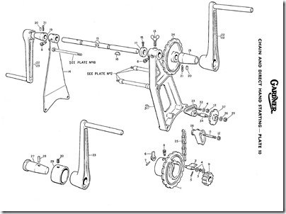 Gardner Chain   Direct Hand Starting exploded diagram