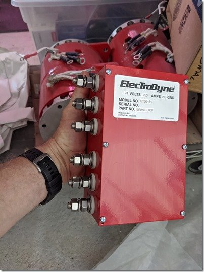Electrodynes with me holding junction box