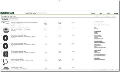 McMaster-Carr Purchase Order 1124WAYNE screen shot