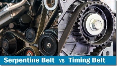 Timing chain on a gears from a car engine