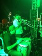 Diego Centeno (percussion), Ommi Ramos (Trombone)